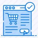 ecommerce, online order, order confirmation, shopping website, submit order