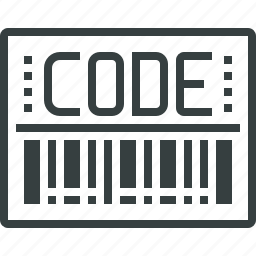 bar, barcode, code, label, order, shipping, tag, tracking icon