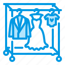 clothes, clothing, dress, hanger, rack icon