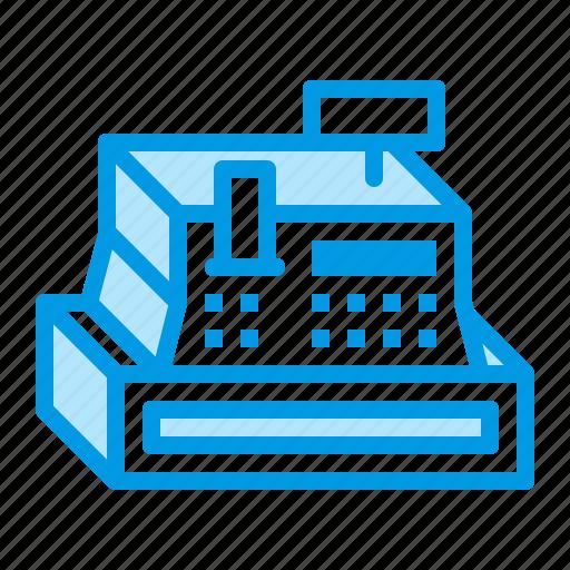 business, cash, machine, money, register icon