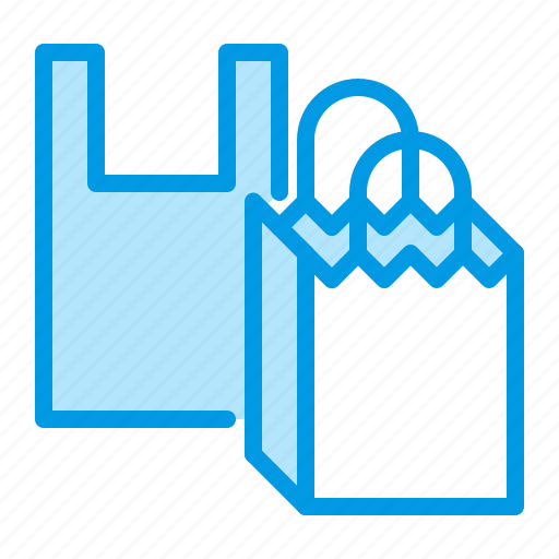 bags, package, paper, plastic icon