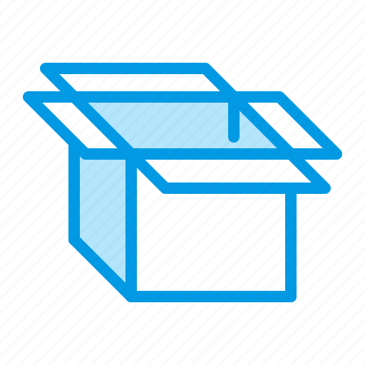 box, open, package icon