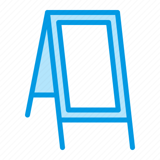 advertising, banner, display, stand icon