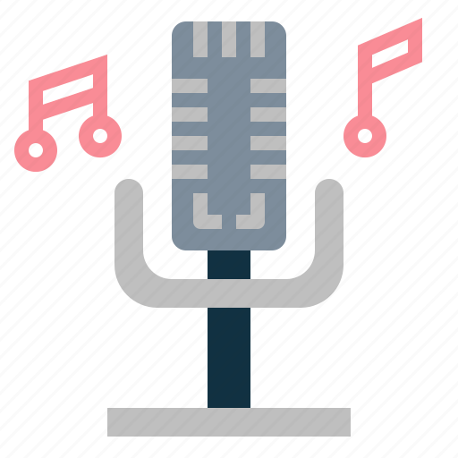 microphone, music, radio, sound icon