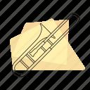 brass, jazz, music, musical instrument, pastel, retro, trombone