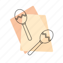 jazz, maracas, music, musical instrument, pastel, retro, rhythm icon