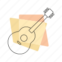 guitar, jazz, music, musical instrument, pastel, retro, string instrument icon