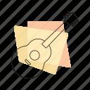 guitar, jazz, music, musical instrument, pastel, retro, string instrument icon