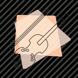 jazz, music, musical instrument, pastel, retro, string instrument, violin icon