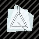 jazz, music, musical instrument, pastel, percussion, retro, triangle icon