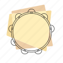 jazz, music, musical instrument, pastel, retro, rhythm, tambourine icon