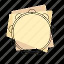 jazz, music, musical instrument, pastel, retro, rhythm, tambourine icon