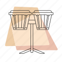 bongos, jazz, music, musical instrument, pastel, percussion, retro icon