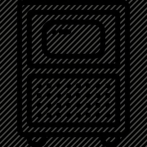 outline, retro, screen, set, tech, television, tv icon