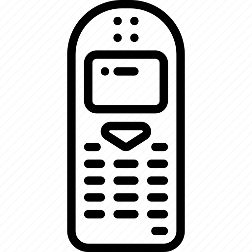 mobile, outline, phone, retro, tech, telephone icon