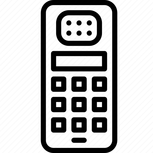 mobile, outline, phone, retro, tech, telephone icon