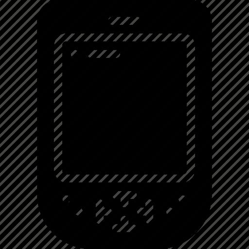 computer, palm, pilot, retro, solid, tech icon