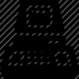 commodore, computer, pc, pet, retro, solid, tech icon