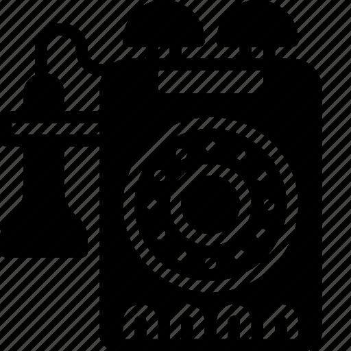 phone, retro, solid, tech, telephone icon