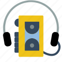 audio, retro, sony, tech, walkman icon