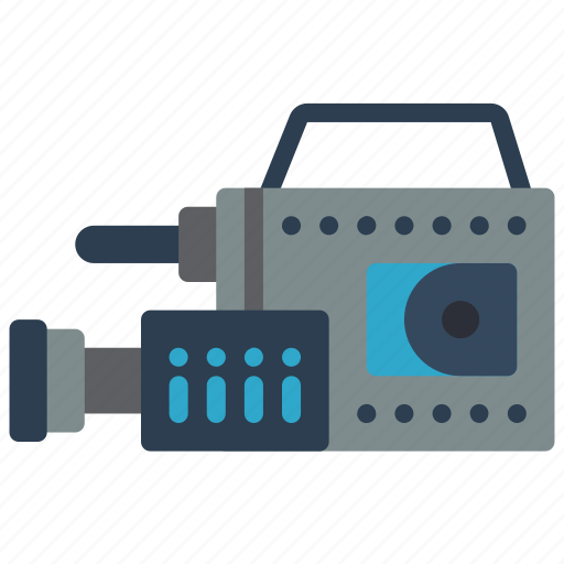 cam, camcorder, movie, retro, tech, video icon