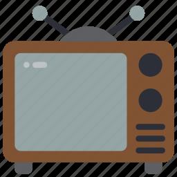 retro, screen, tech, television, tv icon