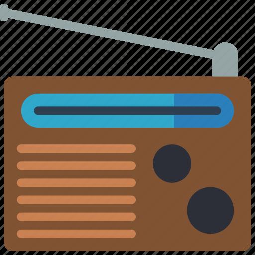 audio, radio, retro, tech, wireless icon