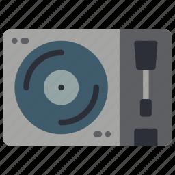 player, record, retro, tech, turntable, vinyl icon