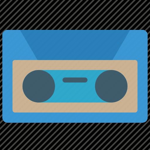 audio, cassette, mix tape, retro, tape, tech icon