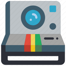 camera, photography, polaroid, retro, tech icon