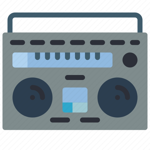 audio, boombox, portable, retro, tech icon