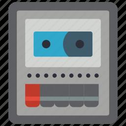 audio, deck, recorder, retro, tape, tech icon