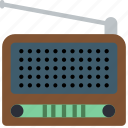 audio, portable, radio, retro, tech, wireless icon