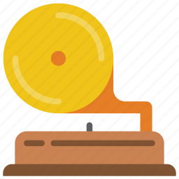 audio, gramophone, player, record, retro, tech icon