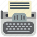 retro, tech, type, writter icon
