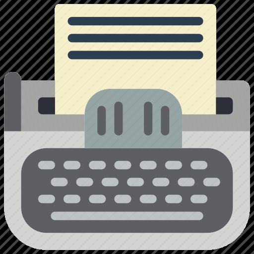 retro, tech, type, writter icon