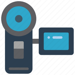cam, camera, handy, movie, retro, tech, video icon