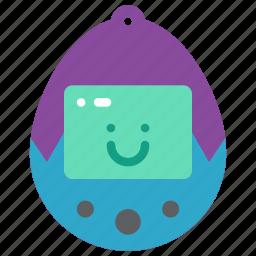 pet, retro, tamagotchi, tech, virtual icon