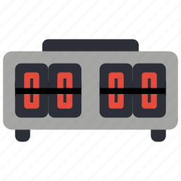 alarm, clock, flip, retro, tech, time icon