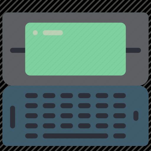 computer, palmtop, pc, portable, retro, tech icon