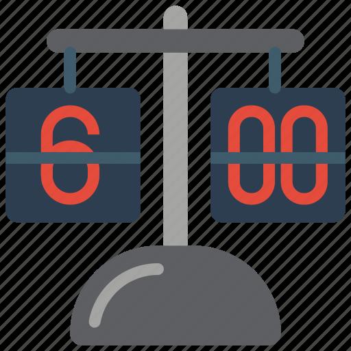 clock, flip, retro, tech, time icon