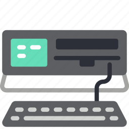 commodore, computer, pc, portable, retro, tech icon