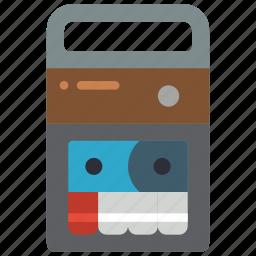 recorder, retro, tape, tech icon