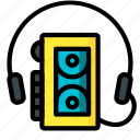 retro, tech, ultra, walkman icon
