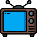 entertainment, retro, screen, television, tube icon