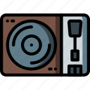 music, retro, stereo, turntable, vinyl icon