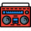 boombox, entertainment, hifi, retro, stereo, tech icon