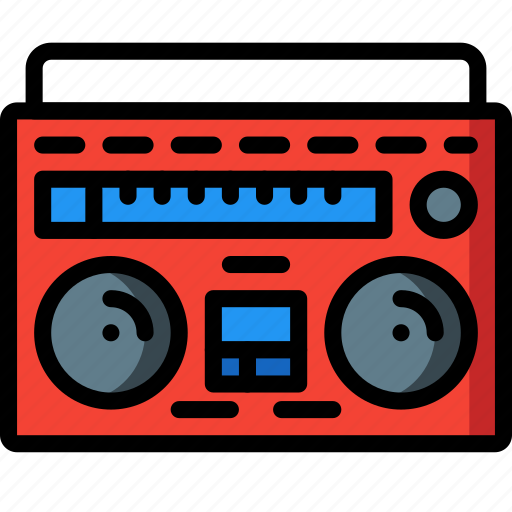 Boombox, entertainment, hifi, retro, stereo, tech icon - Download on Iconfinder