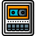 cassette, deck, recorder, retro, tape icon