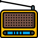 radio, retro, stereo, tech, wireless icon